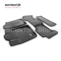 Текстильные 3D коврики Euromat3D Business в салон для Nissan Patrol (2010-) № EMC3D-002813G Серые