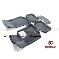 Текстильные 3D коврики Euromat3D Lux в салон для Mercedes CLS-Class (C257) (2018-) № EM3D-003519G Серые