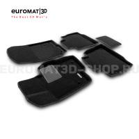 Текстильные 3D коврики Euromat3D Business в салон для Mercedes GLE-Class (W167) (2019-) № EMC3D-003509