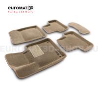 Текстильные 3D коврики Euromat3D Business в салон для Volvo S 60 (2019-) № EMC3D-005502T Бежевый