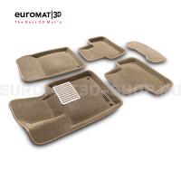 Текстильные 3D коврики Euromat3D Lux в салон для Volvo XC 60 (2018-) № EM3D-005502T Бежевый