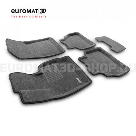 Текстильные 3D коврики Euromat3D Business в салон для Bmw X4 (F26) (2015-2017) № EMC3D-001210G Серые