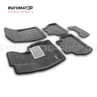Текстильные 3D коврики Euromat3D Lux в салон для Bmw X4 (F26) (2015-2017) № EM3D-001210G Серые