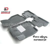 Текстильные 3D коврики Euromat3D Lux в салон для Mercedes GLE-Class (W167) (2019-) № EM3D-003509G Серые
