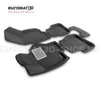 Текстильные 3D коврики Euromat3D Lux в салон для Volkswagen Passat B6 (2005-2011) № EM3D-005412G Серые