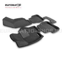 Текстильные 3D коврики Euromat3D Business в салон для Volkswagen Passat B6 (2005-2011) № EMC3D-005412G Серые