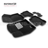 Текстильные 3D коврики Euromat3D Lux в салон для Audi Q3 (2020-) № EM3D-001115