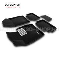 Текстильные 3D коврики Euromat3D Lux в салон для Hyundai Sonata (2020-) № EM3D-002708