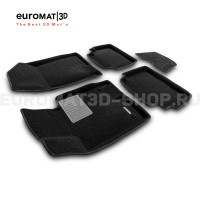 Текстильные 3D коврики Euromat3D Business в салон для Hyundai Sonata (2020-) № EMC3D-002708