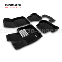 Текстильные 3D коврики Euromat3D Lux в салон для Seat Leon (2005-2012) № EM3D-004502