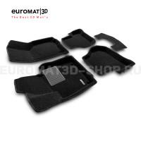 Текстильные 3D коврики Euromat3D Business в салон для Seat Leon (2005-2012) № EMC3D-004502