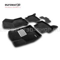 Текстильные 3D коврики Euromat3D Lux в салон для Seat Leon (2012-2020) № EM3D-004507