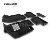 Текстильные 3D коврики Euromat3D Lux в салон для Datsun mi-Do (2015-2020) № EM3D-005310