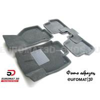 Текстильные 3D коврики Euromat3D Business в салон для Nissan X-Trail (T31) (2007-2014) № EMC3D-003721G Серые