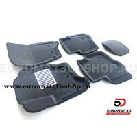 Текстильные 3D Коврики Euromat3D Lux cалон для Land Rover Discovery III (2005-2009) № EM3D-003100G Серые