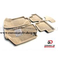 Текстильные 3D коврики Euromat3D Lux в салон для Lada Granta (2014-) № EM3D-005310T Бежевые
