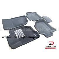 Текстильные 3D коврики Euromat3D Lux в салон для Mitsubishi Pajero Sport (2008-2014) № EM3D-003612G Серые