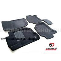 Текстильные 3D коврики Euromat3D Business в салон для Mitsubishi Pajero Sport (2008-2014) № EMC3D-003612G Серые
