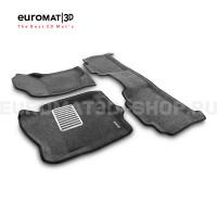 Текстильные 3D коврики Euromat3D Lux в салон для Chevrolet Tahoe (2007-2014) № EM3D-001302G Серые