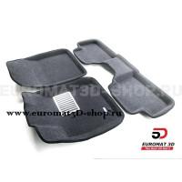 Текстильные 3D Коврики Euromat3D Lux cалон для Kia XCeed (2020-) № EM3D-002902G Серые