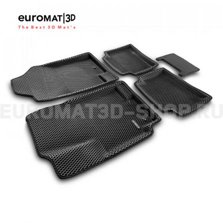 3D коврики Euromat3D EVA в салон для Hyundai Solaris (2010-2016) № EM3DEVA-002717