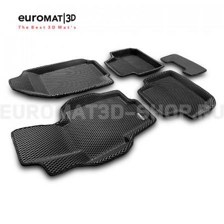 3D коврики Euromat3D EVA в салон для Honda Accord (2002-2007) № EM3DEVA-002605