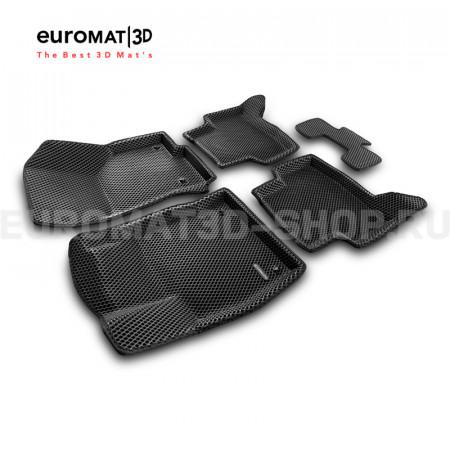 3D коврики Euromat3D EVA в салон для Seat Leon (2012-2020) № EM3DEVA-004507