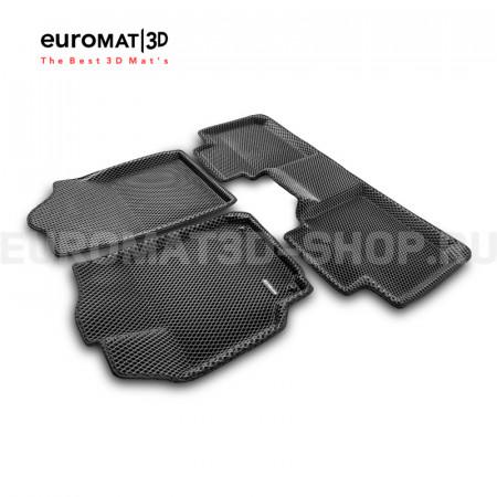 3D коврики Euromat3D EVA в салон для Toyota Camry V50 (2011-2017) № EM3DEVA-005104.1