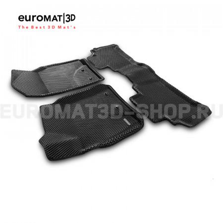 3D коврики Euromat3D EVA в салон для Toyota Land Cruiser 200 (2007-2012) № EM3DEVA-005118