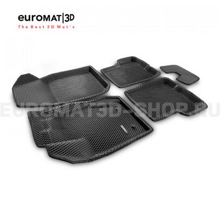 3D коврики Euromat3D EVA в салон для Renault Duster (2011-2014) № EM3DEVA-004200