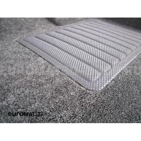 Текстильные 3D коврики Euromat3D Business в салон для Audi A6 (2019-) № EMC3D-001111G Серые
