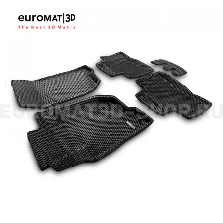 3D коврики Euromat3D EVA в салон для Mitsubishi Pajero Sport (2016-) № EM3DEVA-003614