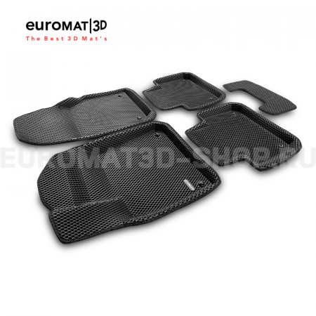 3D коврики Euromat3D EVA в салон для Porsche Cayenne (2018-) № EM3DEVA-004106