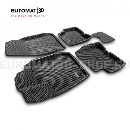 3D коврики Euromat3D EVA в салон для Renault Arkana (2019-) № EM3DEVA-004202