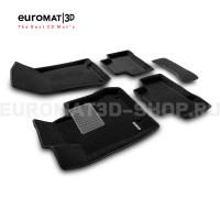 Текстильные 3D коврики Euromat3D Premium в салон для Mercedes GLC-Class (X253) (2015-) № EMPR3D-003518