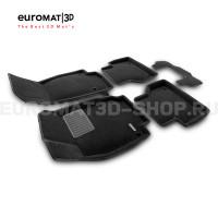 Текстильные 3D коврики Euromat3D Premium в салон для Audi A7 (2019-) № EMPR3D-001111