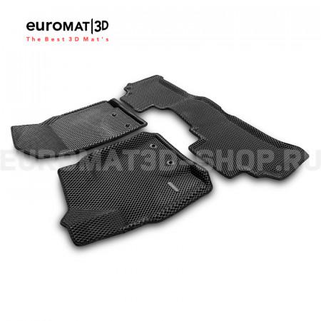 3D коврики Euromat3D EVA в салон для Toyota Land Cruiser 200 (2012-2021) № EM3DEVA-005103