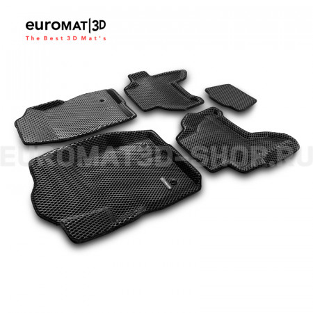 3D коврики Euromat3D EVA в салон для Nissan Pathfinder (R51) (2004-2014) № EM3DEVA-003710