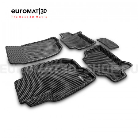 3D коврики Euromat3D EVA в салон для Mitsubishi Pajero Sport (2008-2014) № EM3DEVA-003612