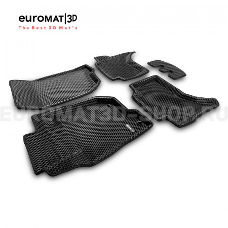 3D коврики Euromat3D EVA в салон для Mitsubishi L200 (2015-) № EM3DEVA-003615