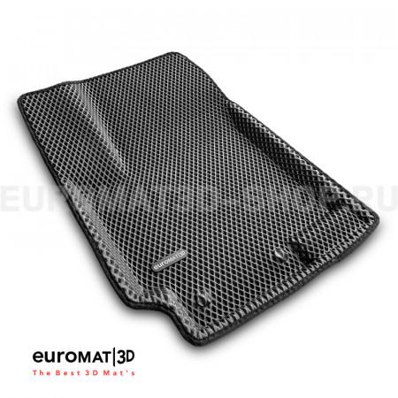 3D коврики Euromat3D EVA в салон для Kia Rio (2011-2016) № EM3DEVA-002922G Серые