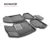 Текстильные 3D Коврики Euromat3D Lux cалон для Kia K5 (2020-) № EM3D-002708G Серые