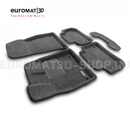 Текстильные 3D коврики Euromat3D Business в салон для Audi Q5 (2017-) № EMC3D-001101G Серые