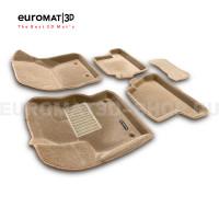 Текстильные 3D коврики Euromat3D Business в салон для Ford Focus 3 (2011-2021) № EMC3D-002207T Бежевые