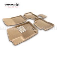 Текстильные 3D коврики Euromat3D Lux в салон для Suzuki Grand Vitara (2005-) № EM3D-004801T Бежевые